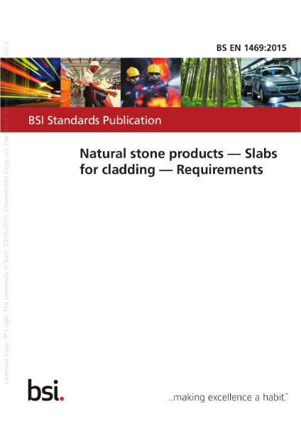EN 1469 – Natural Stone Products – Slabs for cladding – Requirements
