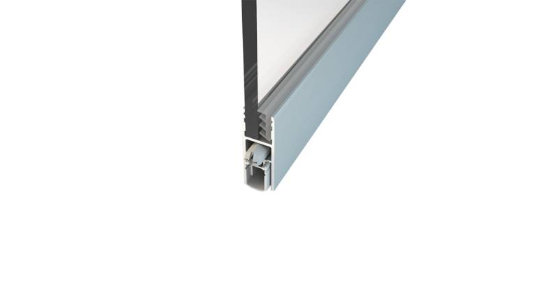 Norsound NOR831 Glass Inline Acoustic Automatic Door Bottom seal
