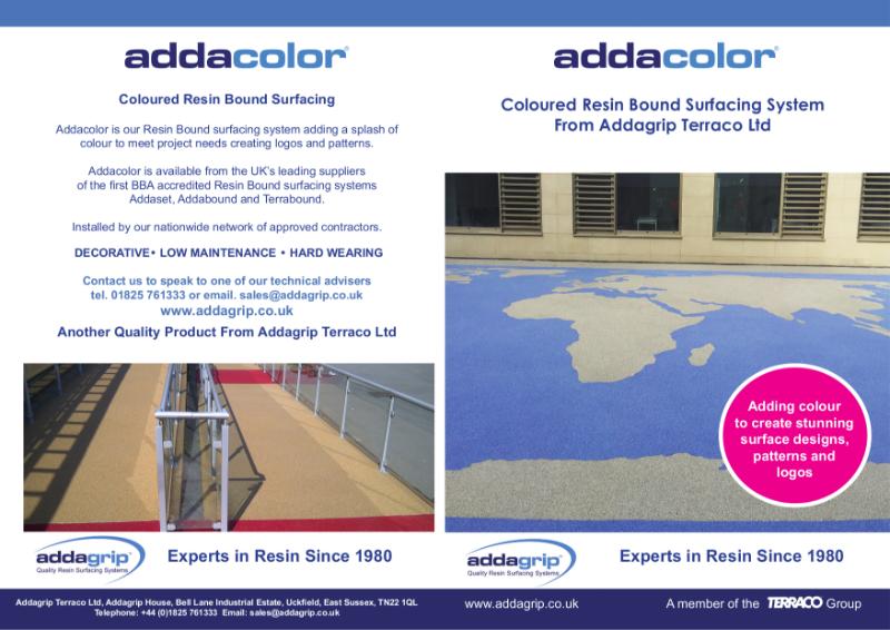 Addacolor Resin Bound Surfacing Brochure