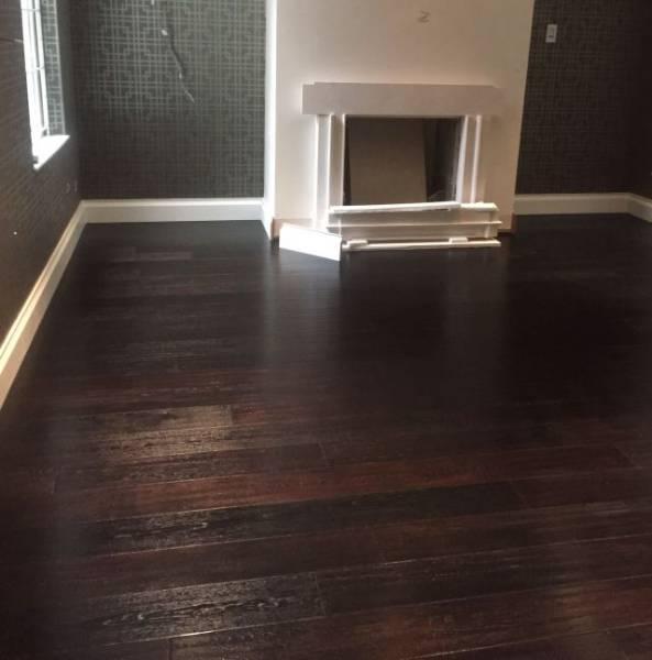 Oak Engineered Wood Flooring, Carbonised Black, Herringbone