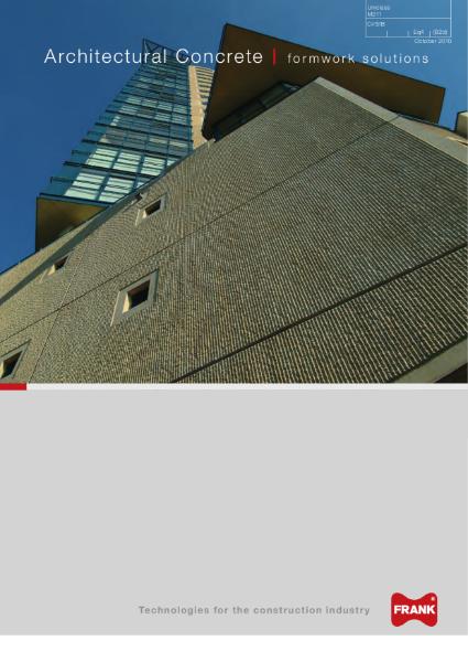 Architectural Concrete - formwork solutions