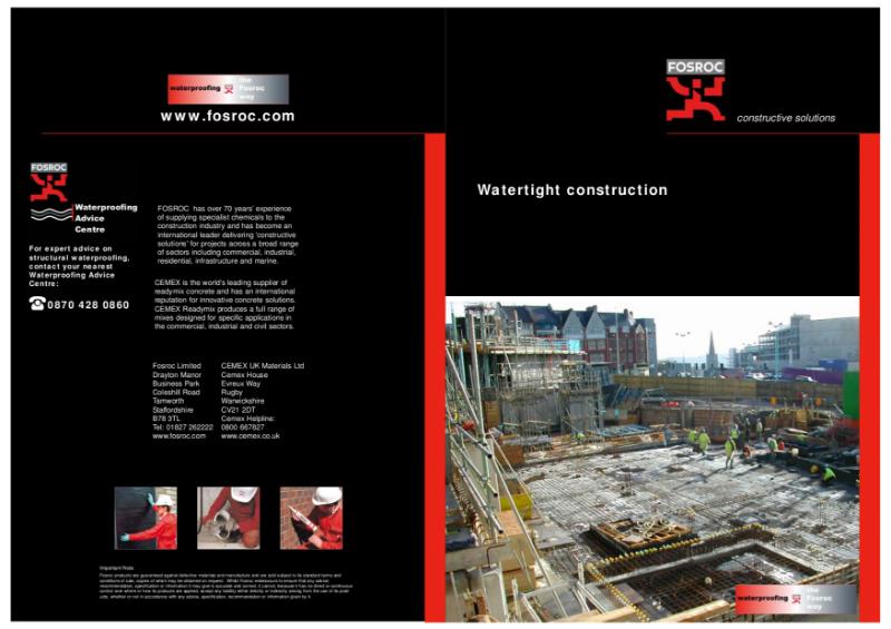 Watertight Construction