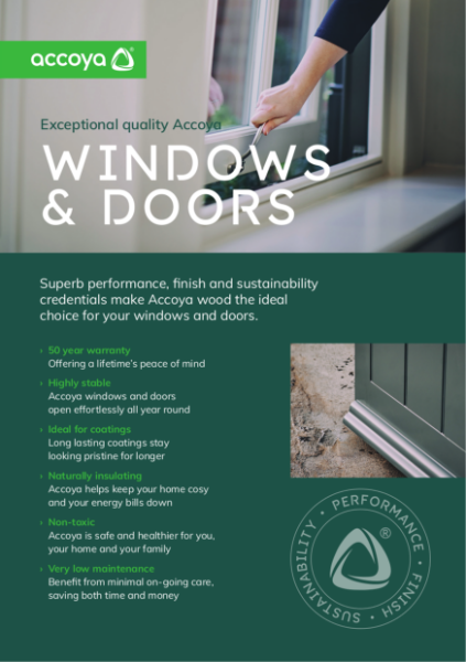 Accoya - Benefits of Windows & Doors