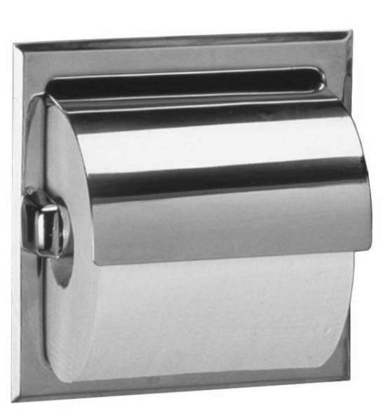 Toilet tissue holder with hood B-6697