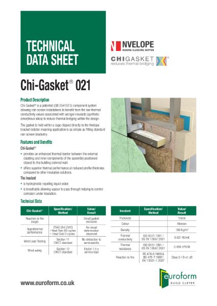 Euroform Chi-Gasket 021 TDS - Issue 2 06 2018