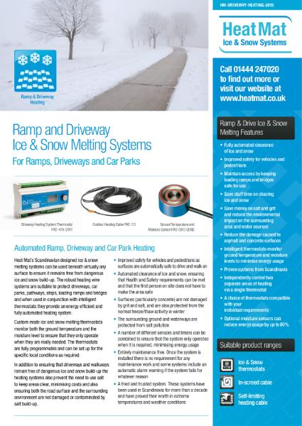 Heat Mat Driveway Heating Datasheet