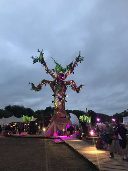 SMARTPLY OSB used for giant tree at Glastonbury 2017