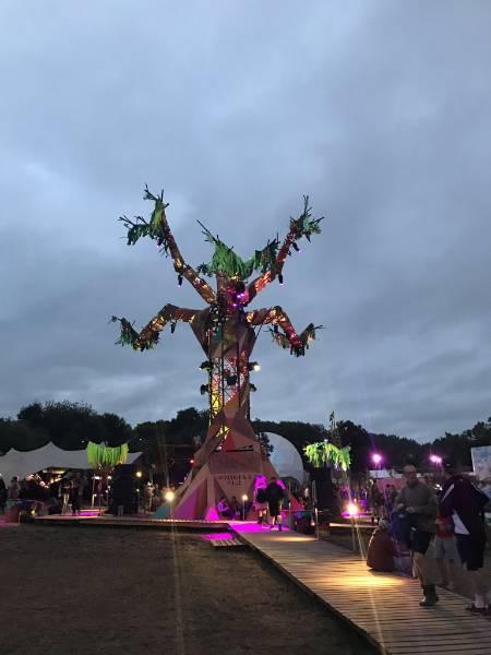 SMARTPLY OSB used for giant tree at Glastonbury 2017
