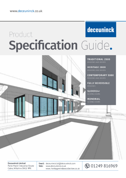 08. Specification Guide - Deceuninck, About Us