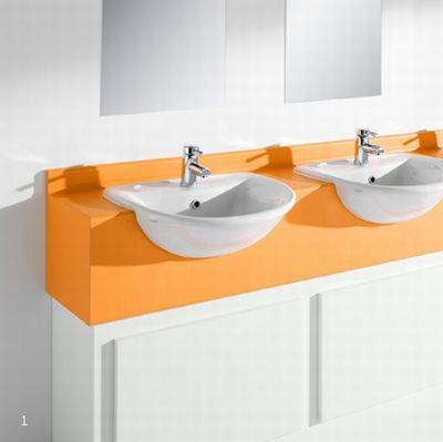 Semi Recessed Vanity Unit with Upstand SGL