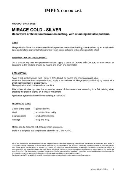 Polished Plaster Mirage