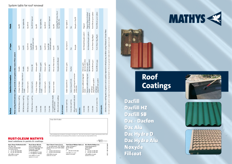 Overview of our Industrial Coatings for Roofs