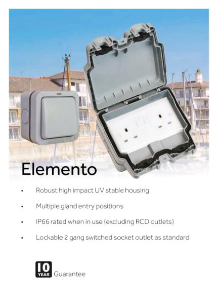 Elemento Weatherproof Wiring Accessories
