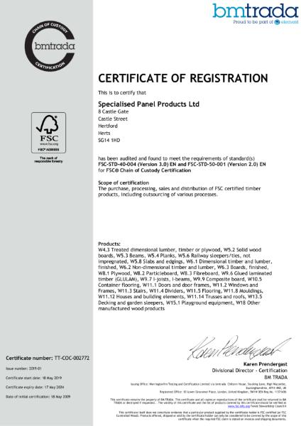 SPP - FSC Certification 2019-2024