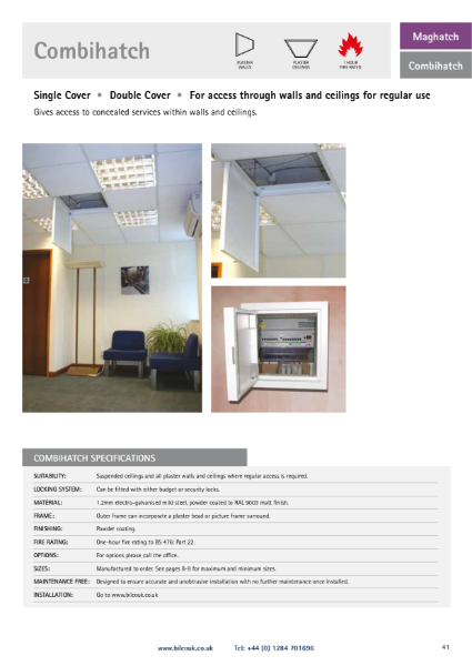 Combihatch Plastered Wall Access Panel