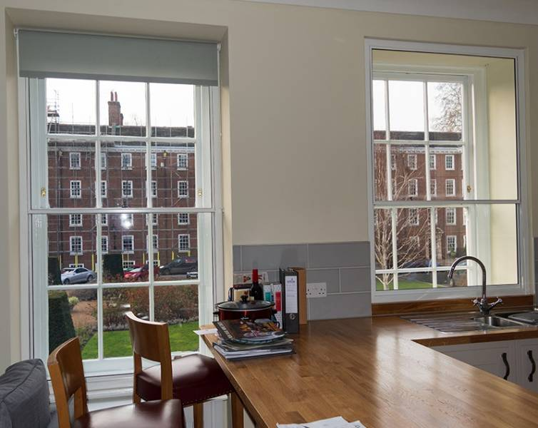 Warm and quiet accommodation for the upholders of the law at Gray's Inn
