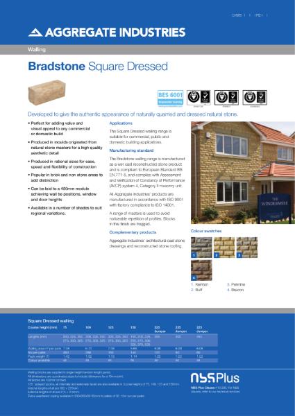 Bradstone Square Dressed Walling