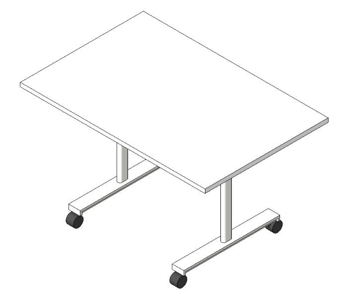 Scrum Flip Top Nesting Table - Rectangular