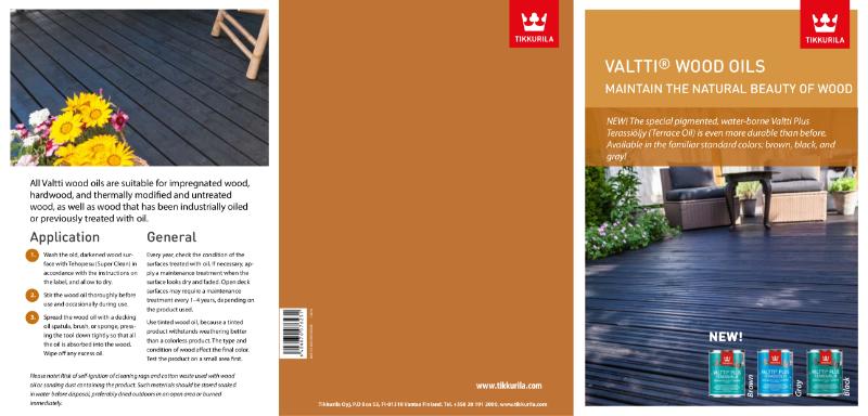 Valtti Wood Oil Akva (Puuoljy Akva) Brochure