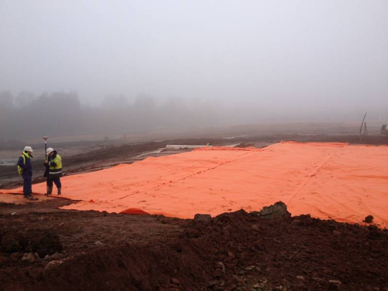 HPS3 Orange Warning Layer Geotextile