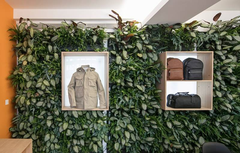 International clothing brand features LivePanel living wall