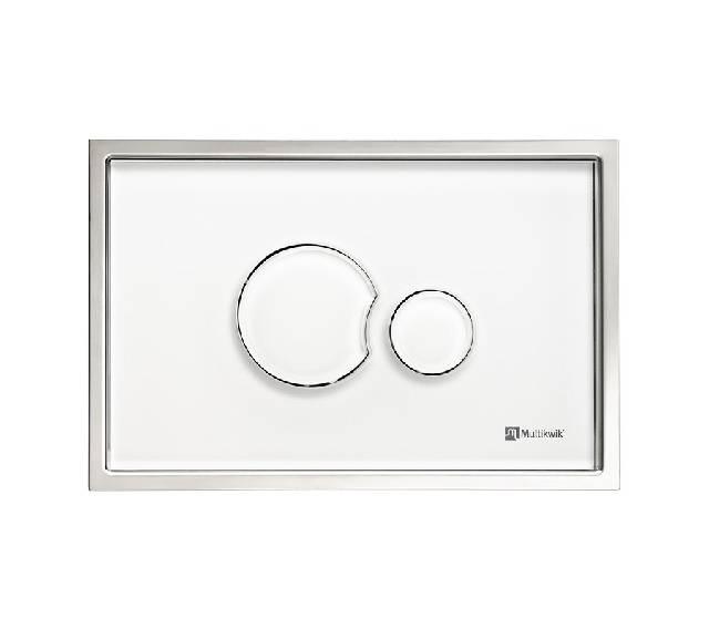 TRF1215E Multikwik Flush Plate - Eclipse Glass Recessed (White Finish)