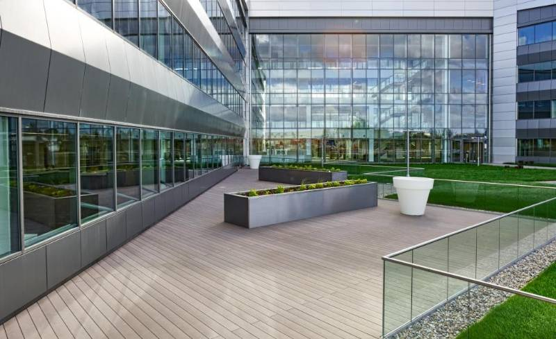Terrafina composite decking for VW Finance HQ