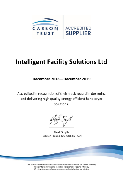 Carbon Trust Certificate
