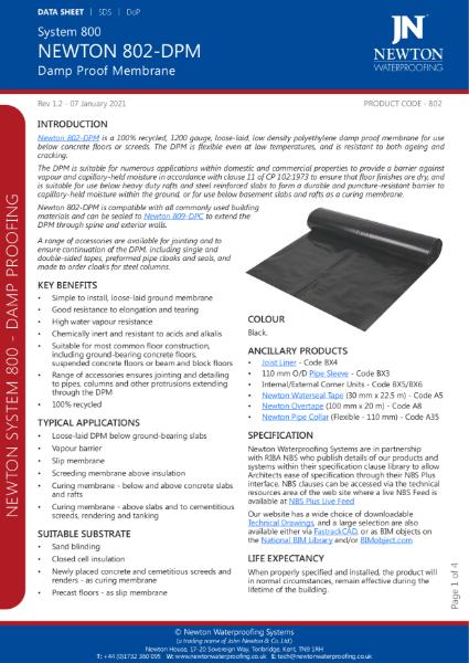 Newton 802-DPM Data Sheet