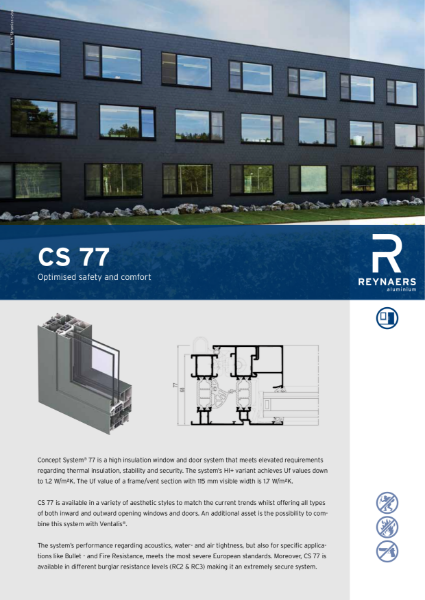 Aluminium Window & Door System - CS 77