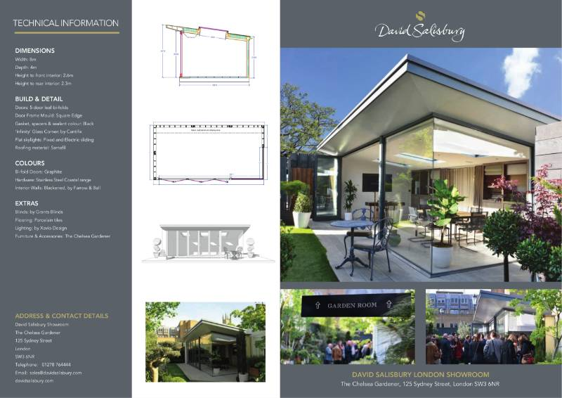 London Showroom Modern Garden Room Brochure