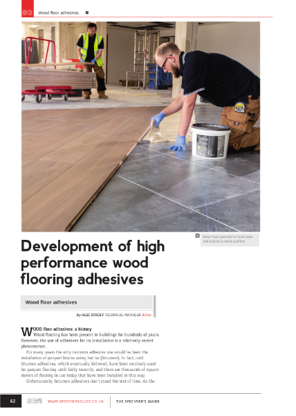 Development of high performance wood flooring adhesives