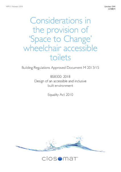 Guidance on Specification of Space to Change wheelchair-accessible toilets
