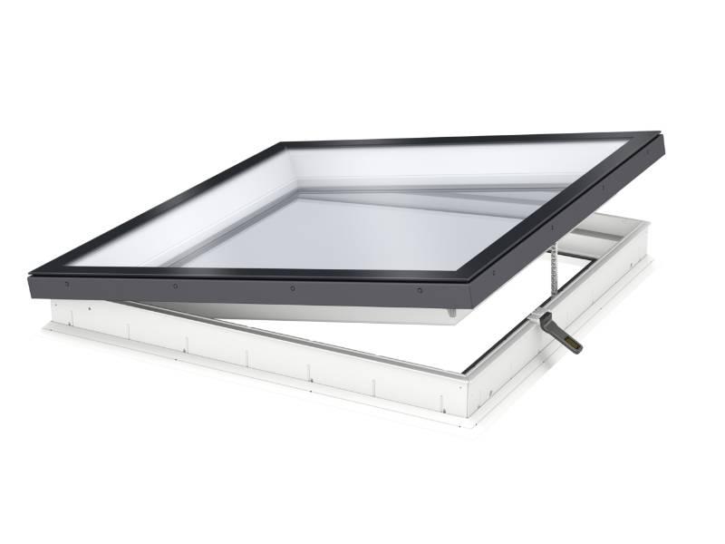 CVU INTEGRA® Electric, Flat Roof Window with Flat Glass Cover