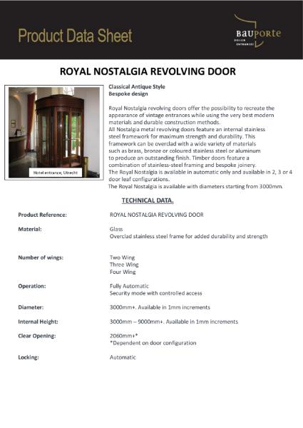 Bauporte Royal Nostalgia Revolving Door