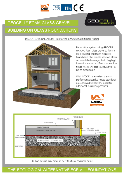 3. Foundation Details (UK) using Foam Glass