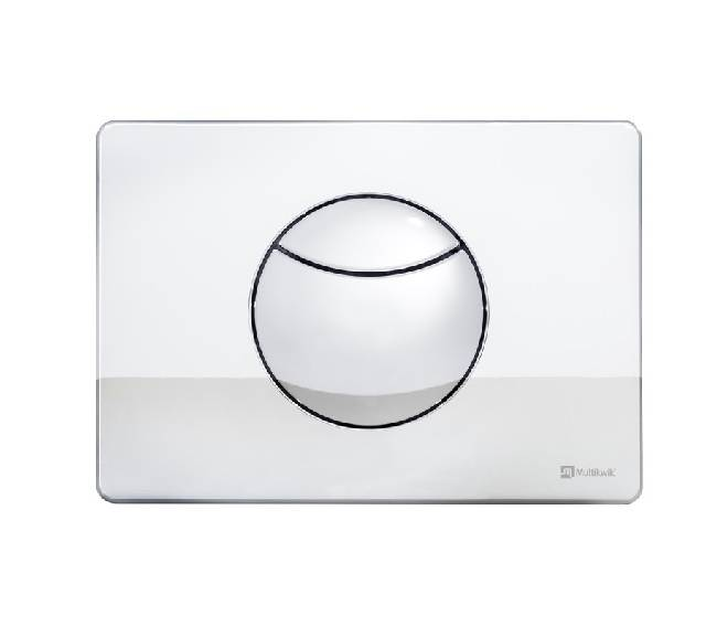 TRF0427C Multikwik Flush Plate - Crescent (chrome finish)