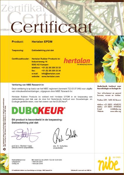 Dubokeur Certificate