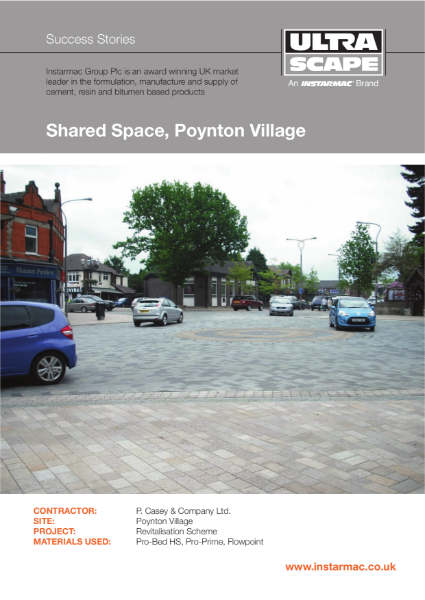 Bedding. Jointing. Priming. Shared Space Scheme.