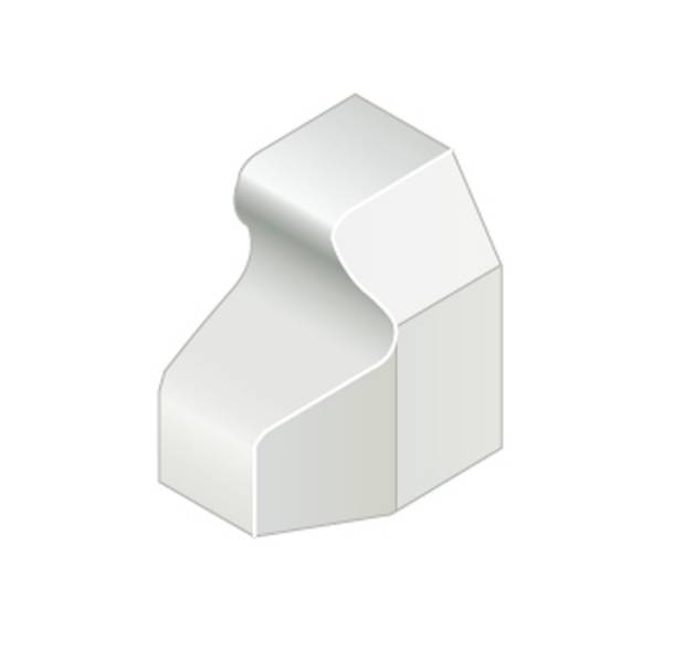Trief® GST2A Chevron Clockwise Stop End Kerb - right hand