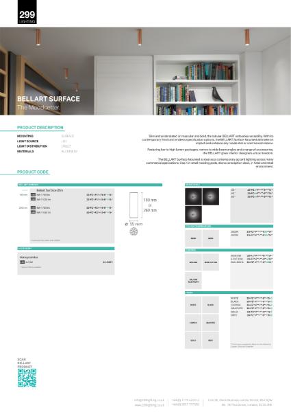 Bellart Surface Downlight Datasheet