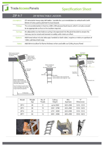 Retractable Zip Ladders