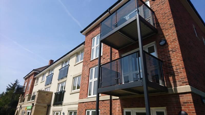Glass Balconies add to Seaside Appeal