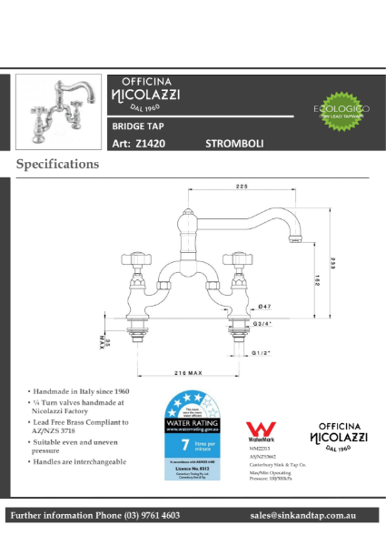 Z1420 Stromboli Technical Specification