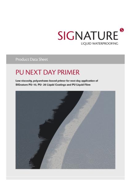 SIGnature PU Liquid Waterproofing Next Day Primer Datasheet