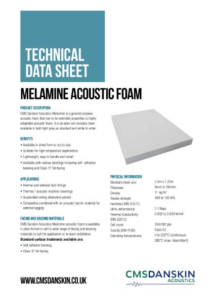 CMS Danskin Acoustics Melamine Acoustic Foam TDs