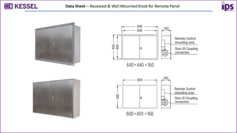 x. KESSEL Recessed & Wall Mounted Kiosk - Separator System Accessories - Data Sheet – Kiosk for Remote Panel