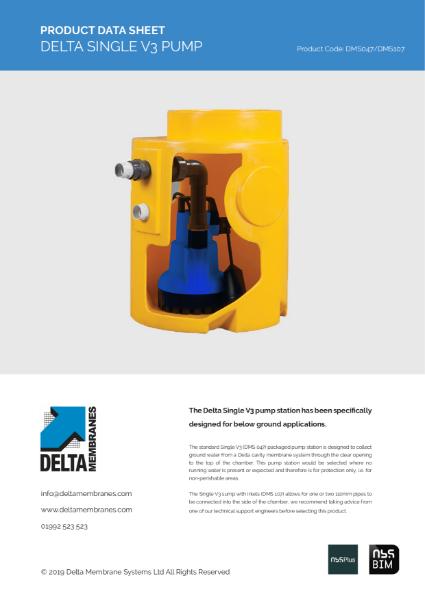 Delta Single V3 Pump