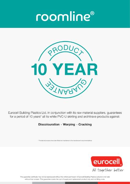 Roomline 10 Year Product Guarantee