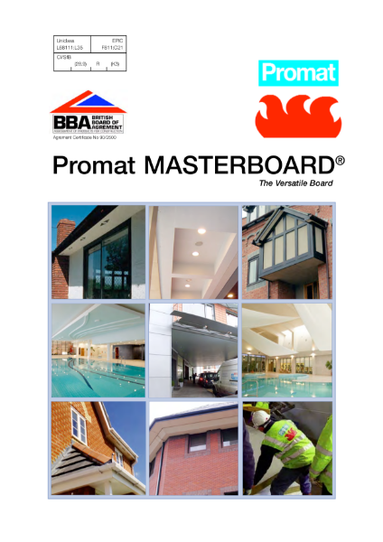 Promat MASTERBOARD® - 30 minutes fire protection